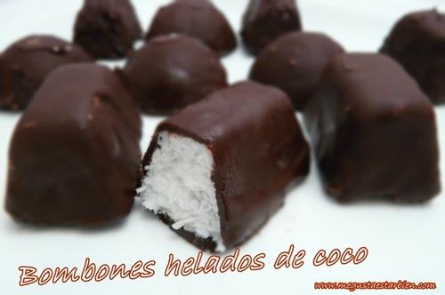 Bombones helados de coco