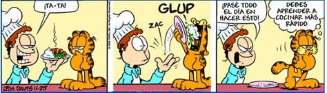 Garfield cocinero