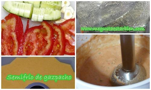 Receta Semifrio de gazpacho