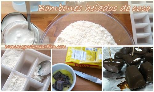 Receta bombones helados de coco