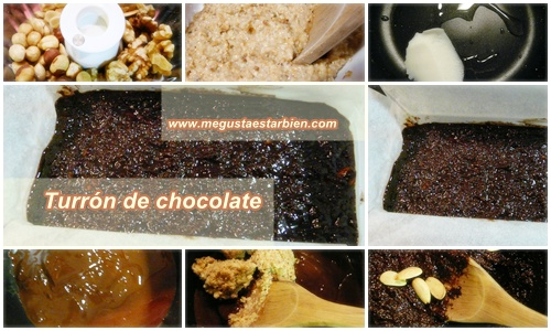 Receta turron de chocolate