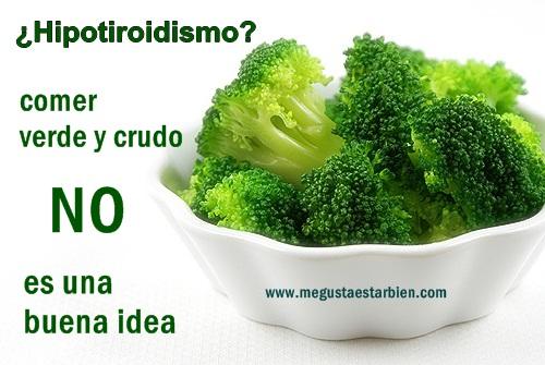 Hipotiroidismo dieta bociogenicos