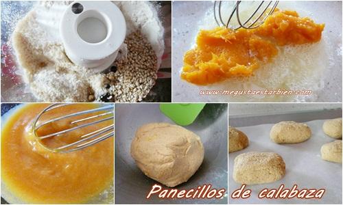 receta Panecillos calabaza