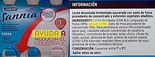 sannia colesterol