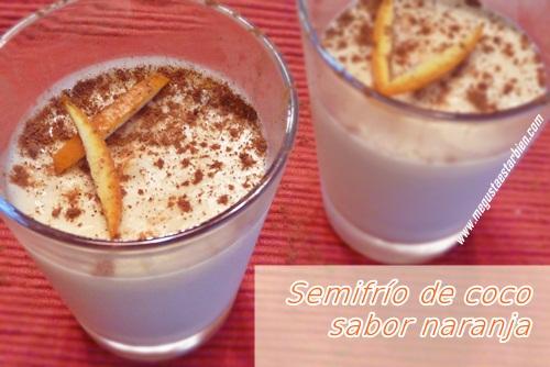 Semifrio de coco sabor naranja