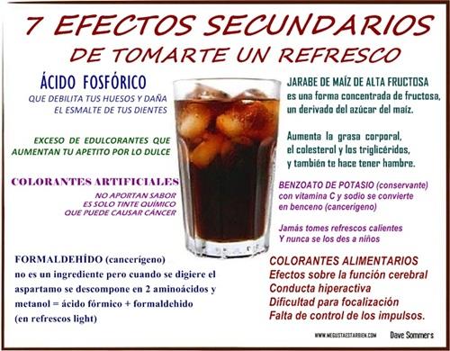 7 EFECTOS SECUNDARIOS DE LOS REFRESCOS