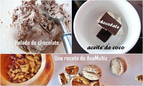 receta cobertura chocolate para helado