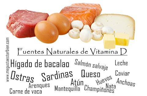 fuentes naturales de vitamina D