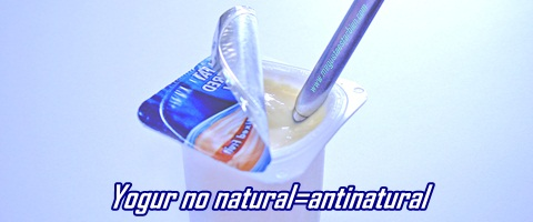 Yogur no natural