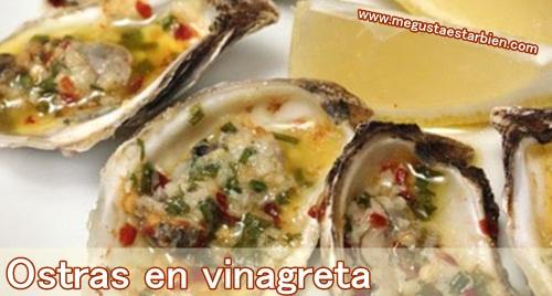 ostras en vinagreta