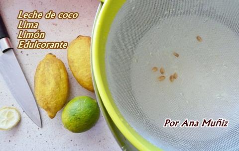 receta helado lima limon