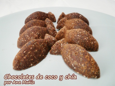 chocolates de coco y chia