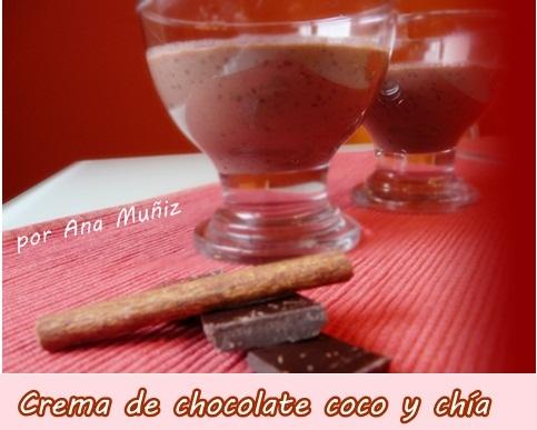 Crema de chocolate coco y chía receta