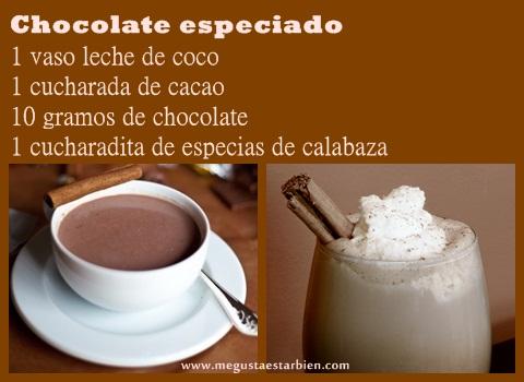 receta chocolate especiado