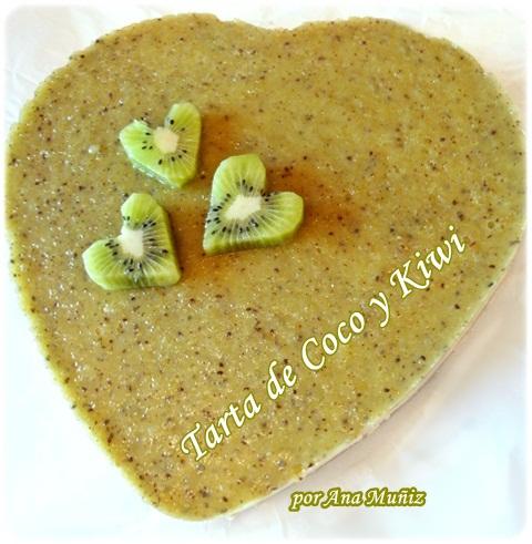 Tarta de coco y kiwi