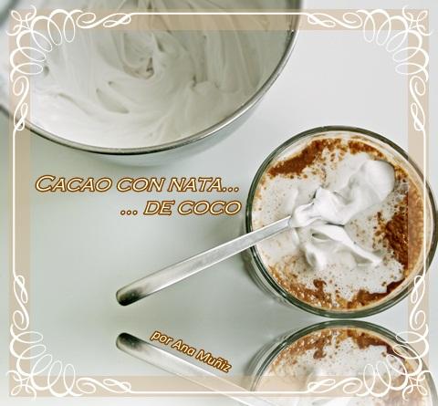 Cacao con nata de coco