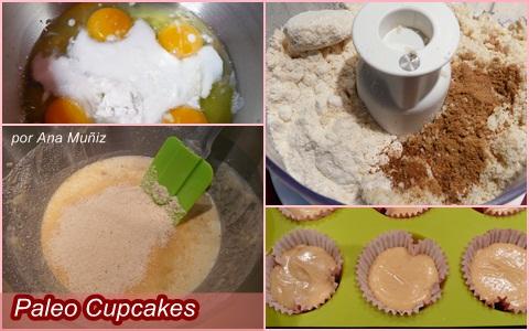 receta paleo cupcakes vainilla