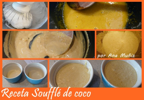 Receta souffle de coco