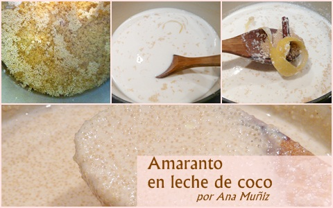 receta amaranto en leche de coco o gachas de amaranto