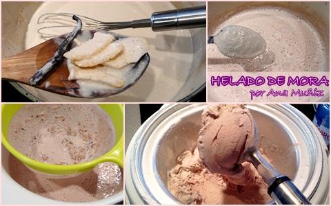 receta helado de mora