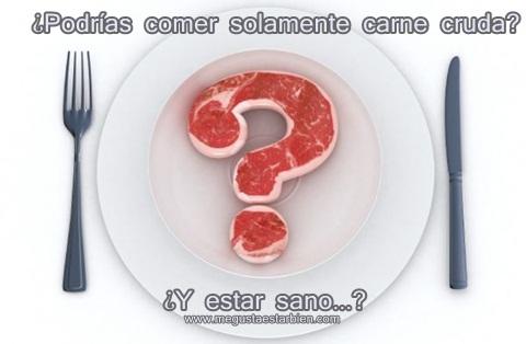 una dieta solo de carne