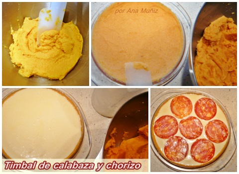 Timbal de calabaza y chorizo cena r pida y sencilla me for Cena original y sencilla