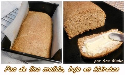 receta pan de lino molido bajo en hidratos
