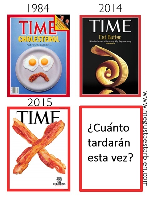 revista time colesterol bacon jamon