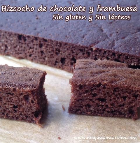 bizcoho chocolate y frambuesa