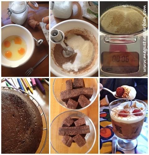 receta bizcocho chocolate y frambuesa