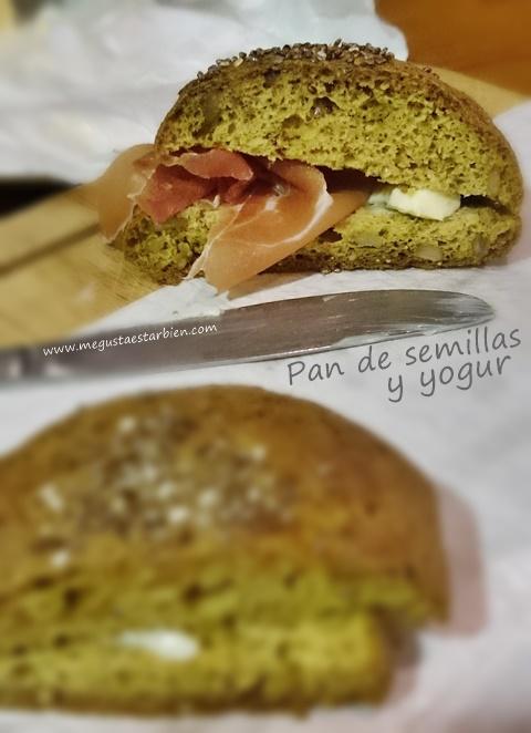 pan de semillas y yogur sin gluten