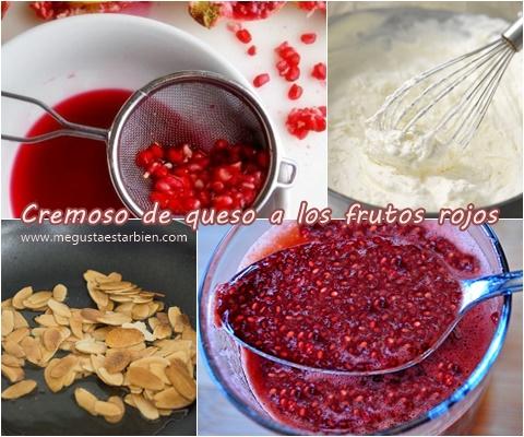 receta cremoso de queso a los frutos rojos