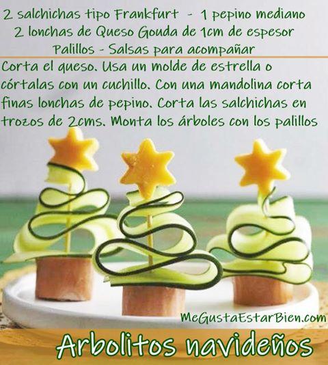 Receta arbolitos de navidad