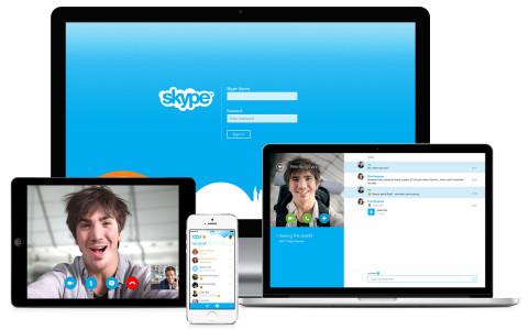 imagen de contacttos a traves de skype