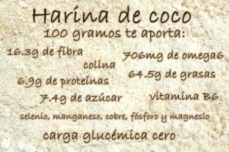 Harina de coco propiedades