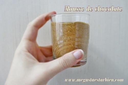 Mousse de chocolate sin azúcar y sin lactosa