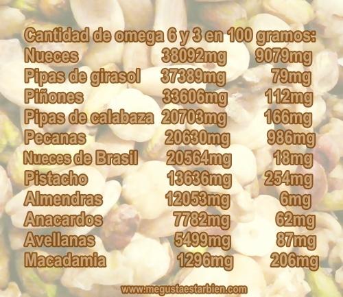 Omega 6 en frutos secos