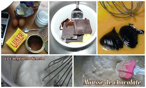 Receta mousse de chocolate sin azúcar