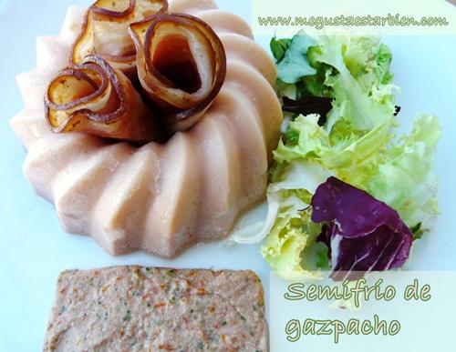 Semifrío de gazpacho