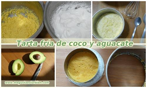 receta tarta aguacate y coco