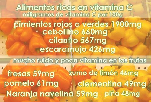 Alimentos ricos en vitamina c