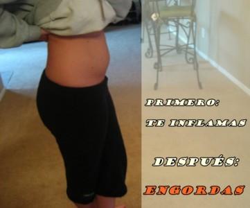 primero te inflamas luego engordas