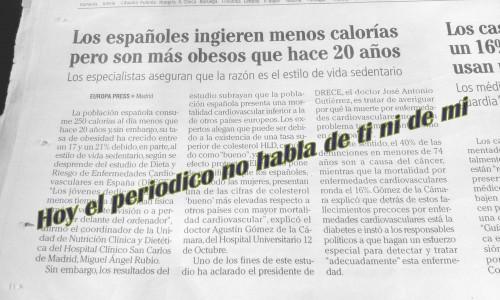 Estudio calorias y obesidad