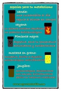 especias para tu metabolismo