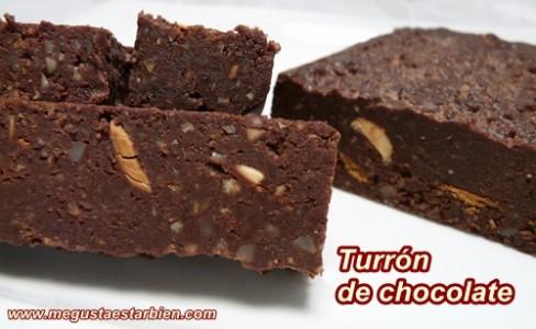 Turron de chocolate sin gluten sin azucar