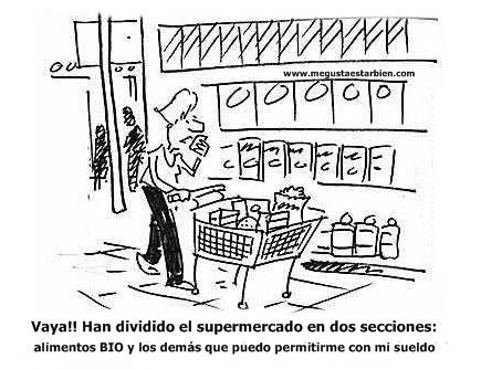 productos bio en el supermercado