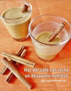 Café con leche desayuno nutritivo