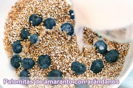 amaranto con arandanos