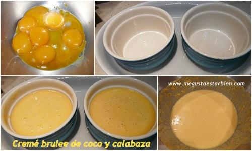 receta Creme brulee de coco y calabaza