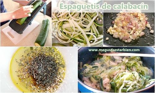 receta espaguetis de calabacín